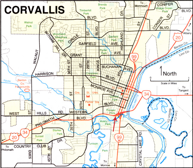 Index of Corvallis